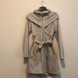 Soia y Kyo trench coat in oatmeal size small